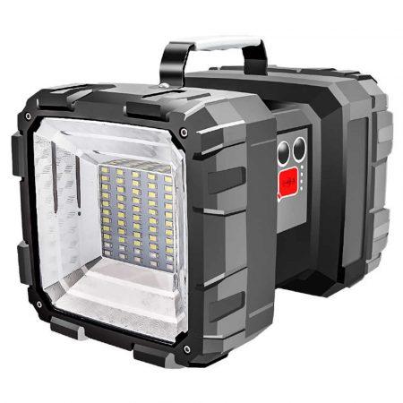 Újratölthető szuper fényes LED  multifunkciós kültéri munka -kemping- zseblámpa