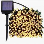 300 LED Napelemes Fényfüzér Zöld vezeték 25m