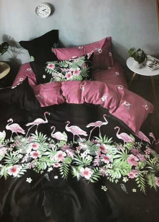 7 Részes Ágynemű Garnitúra Flamingó - Black