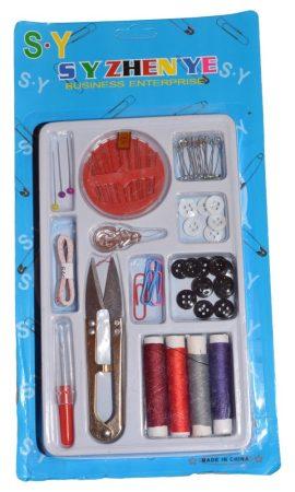 Hordozható varrókészlet tároló dobozban