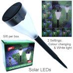 Leszúrható napelemes kerti lámpa szett 6 db/csomag