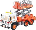 Emelőkosaras teherautó akkumulátorral