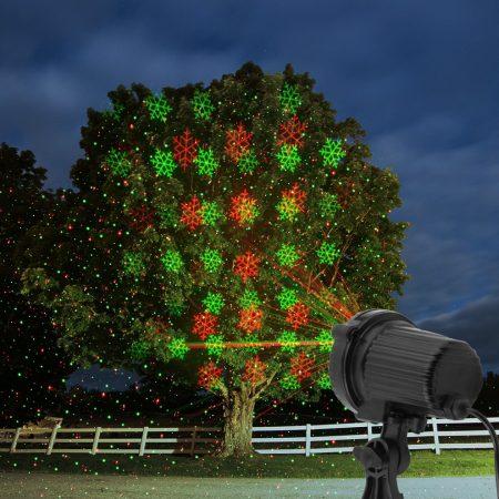 Kültéri LED projektor, hópehely