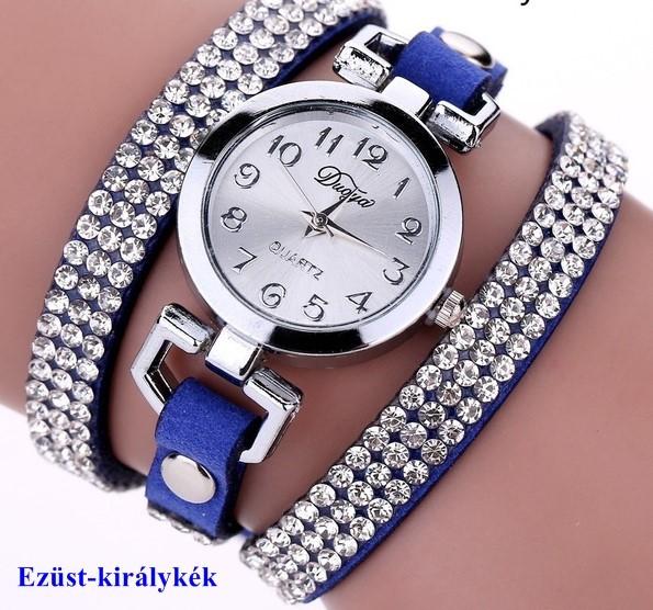 Karkötő óra csillogó strasszköves díszítéssel -több színben - Webvasar c0d3c3965c