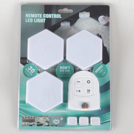Távirányítós LED Lámpa - 3DB-OS SZETT