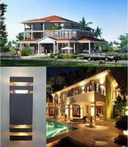kültéri modern fali lámpa RioII
