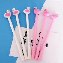 Aranyos Rózsaszín Flamingó gél toll - 2db/csomag