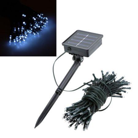 Napelemes Karácsonyi LED égősor, Fényfüzér, Kültéri- 200 Led
