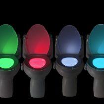 Mozgásérzékelős LED WC fürdőszobai világítás