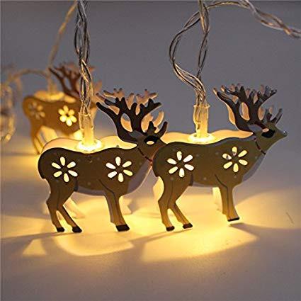 Beltéri LED-es fényfüzér, szarvas motívumos