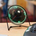LED-es asztali ventilátor óra kijelzéssel