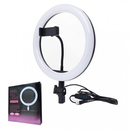 LED körfény mini állvánnyal és flexibilis telefontartóval