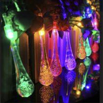 Napelemes Karácsonyi csepp izzósor 30 LED-es