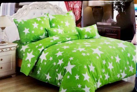 7 részes Csillagos Ágynemű Garnitúra-Zöld