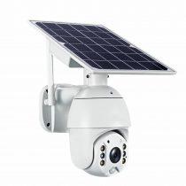 Intelligens napelemes Solar PTZ WiFi vízálló éjjellátó kamera felügyeleti rendszer