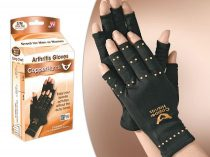 Copper Hands kesztyű valódi réz tartalommal, melynek az alternatív gyógyászok ízületi fájdalom csökkentő hatást tulajdonítanak