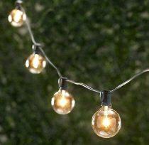 Izzó formájú, Kültéri elemes Kerti Party LED fényfüzér