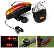 Indexes kerékpár lámpa szett + hangkürt & féklámpa