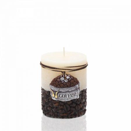 Kávés kézműves gyertya-vanília illattal