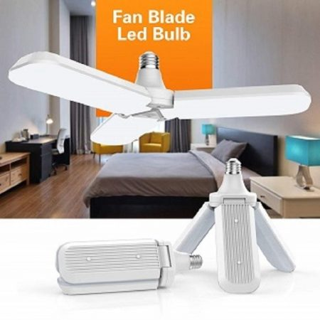 Ventilátor formájú, kinyitható E27 LED lámpa / állítható vetítési szöggel - 45W
