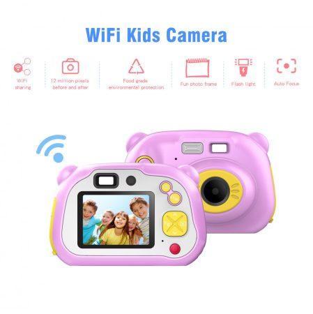 X200 1080P Hordozható Digitális Gyerek  Kamera 2 Inch LCD-Kijelző