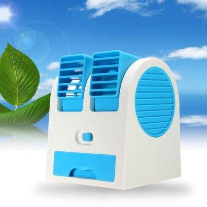 Mini asztali kettős ventilátor