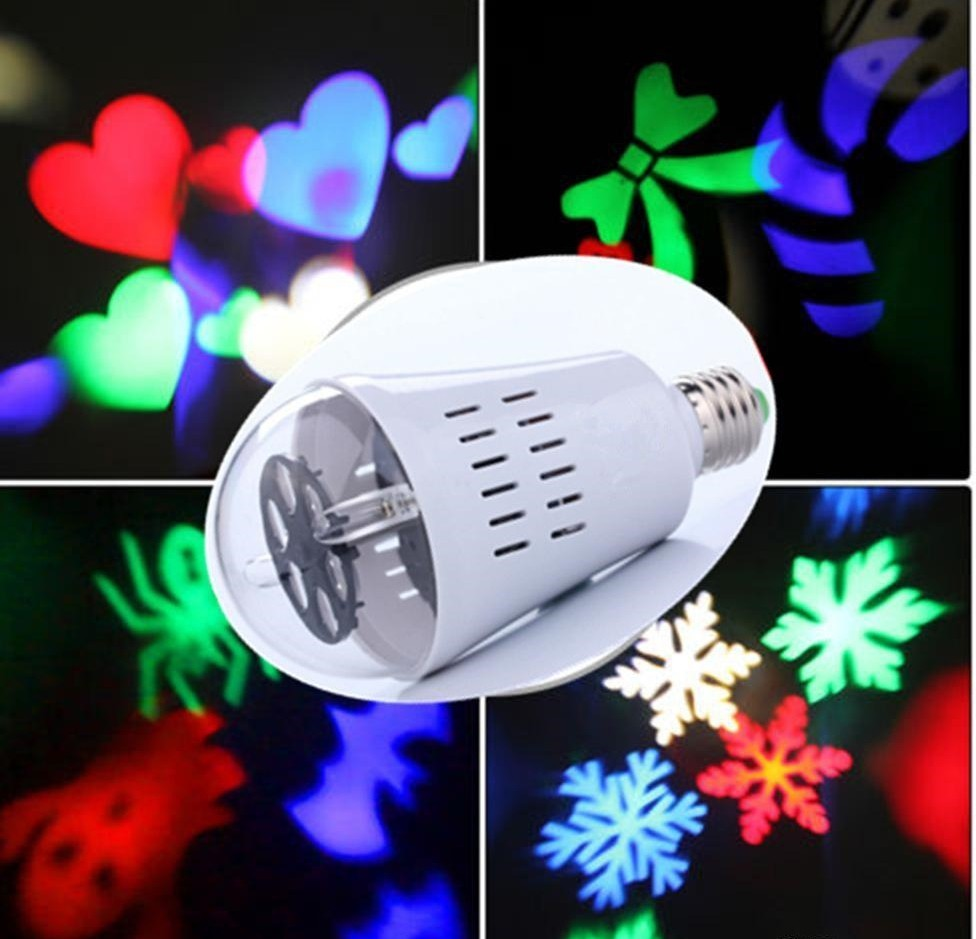 RGB Led Christmas Glowing With E27 Слот