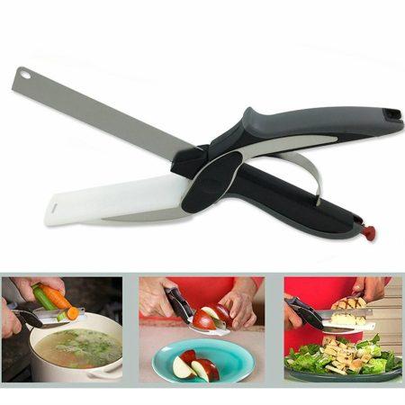 Konyhai 2 az 1-ben vágóeszköz - kés+vágódeszka egyben
