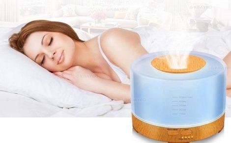 Aroma Diffúzor,párologtató - Színes LED - Időzítővel, USB