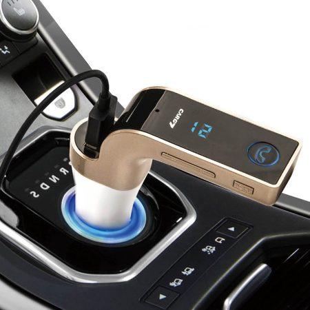 Multifunkciós bluetooth-os FM transmitter - MP3 - kihangosító és töltő