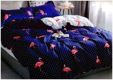 7 részes ágynemű garnitúra flamingó mintával