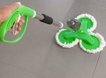Spray Mop 3 fejes folyadék-adagolós padlótisztító - 2in1 seprű és felmosó