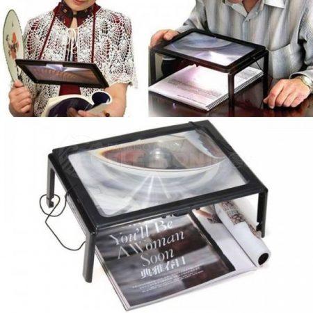 Asztali keretes nagyító LED-del