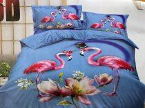 7 részes 5D Hatású Flamingó Ágynemű2