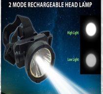 Akkumulátoros fejlámpa nagy fényerővel