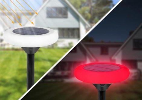 RGB LED-es napenergiával működő leszúrható kerti lámpa 2 db/csomag