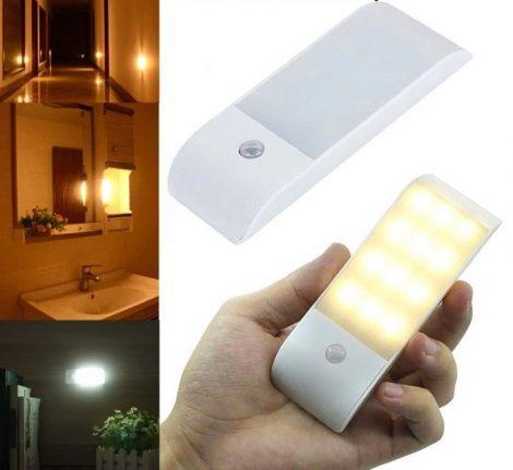 Mozgásérzékelő lámpa - USB töltés -szekrényben-fiókban