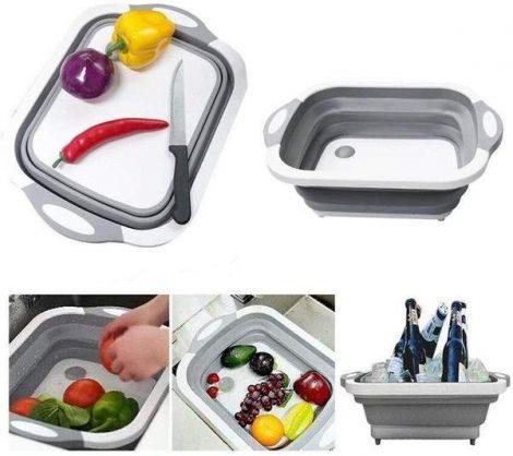 Szilikonos összecsukható Gyümölcs/ Zöldség mosó