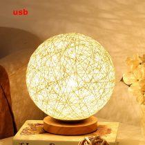 Rattan gömb alakú asztali lámpa