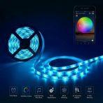 Színváltós USB LED szalag mobiltelefonos távirányítással 1 m