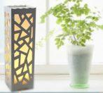 Asztali lámpa rusztikus stílusban