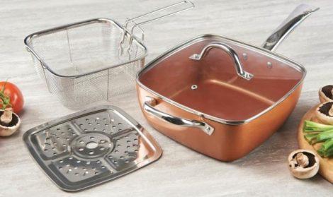 Copper pan 4 részes