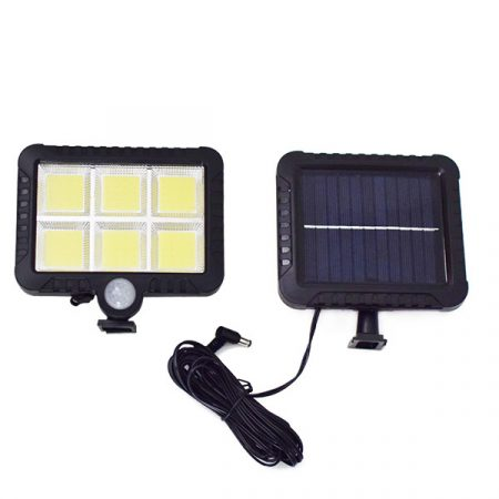 LF-1520 Kültéri COB LED napelemes fali lámpa, mozgásérzékelővel