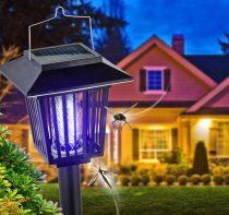 Rovar és szúnyog ölő elektromos fénycsapda és kerti lámpa