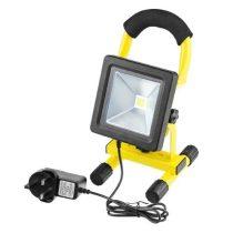 Akkumulátoros, tölthető LED Reflektor, 10 Watt