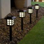 4db-os X17 Napelemes LED-Es Leszúrható Kerti Lámpa