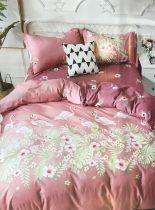 7 Részes Ágynemű Garnitúra - Rózsaszín Flamingó