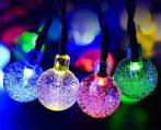 Napelemes Karácsonyi gömb izzósor 30 LED-es