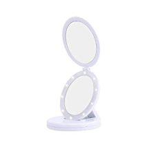 Smink és kozmetikai tükör LED lámpával - 5x nagyítású!