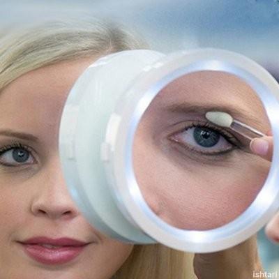 Kozmetikai nagyító tükör – többszörös nagyítással, a tükör minden irányban dönthető